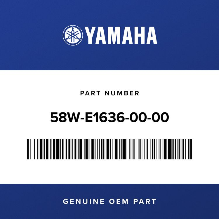 Yamaha PISTON (0.50MM O/S) 58W-E1636-00-00