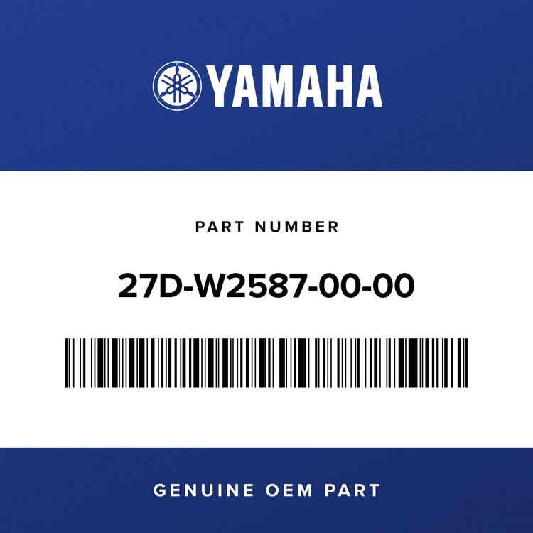 Yamaha MASTER CYLINDER SUB ASSY 27D-W2587-00-00