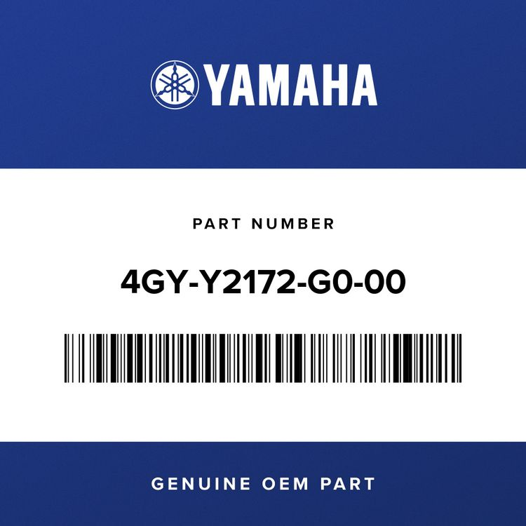 Yamaha COVER, SIDE 2 4GY-Y2172-G0-00