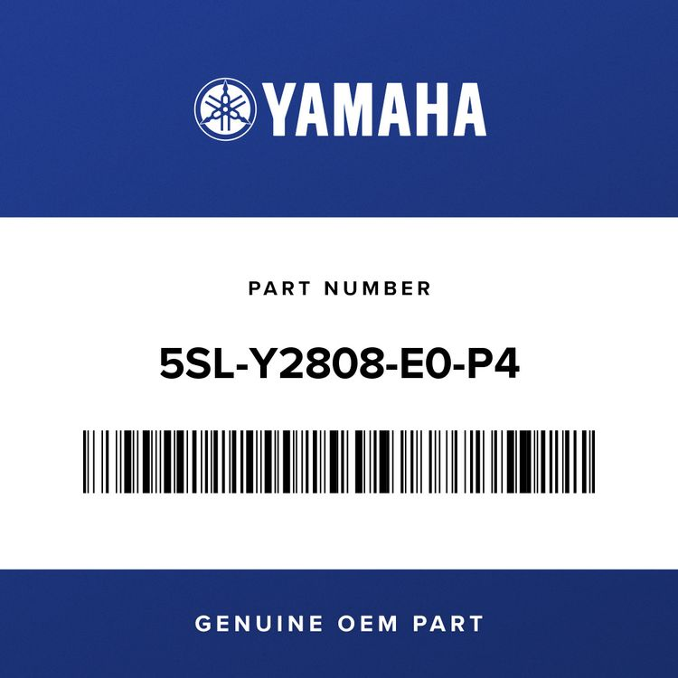 Yamaha COVER ASSY, UNDER 5SL-Y2808-E0-P4