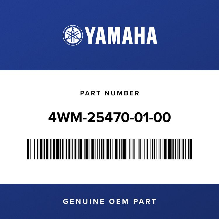 Yamaha SPROCKET, DRIVEN     4WM-25470-01-00