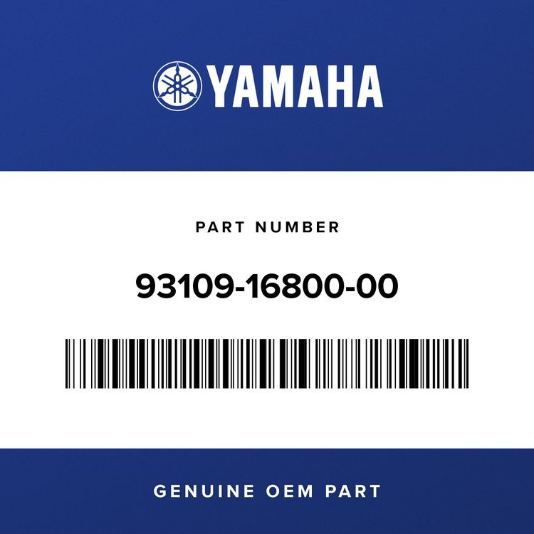 Yamaha OIL SEAL 93109-16800-00