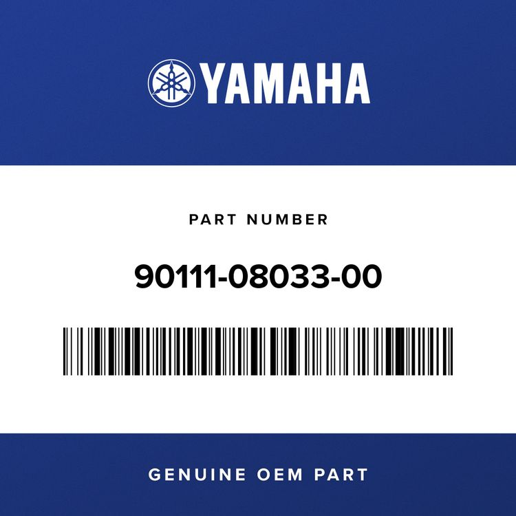 Yamaha BOLT, HEX. SOCKET BUTTON 90111-08033-00