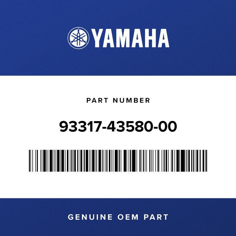 Yamaha BEARING 93317-43580-00