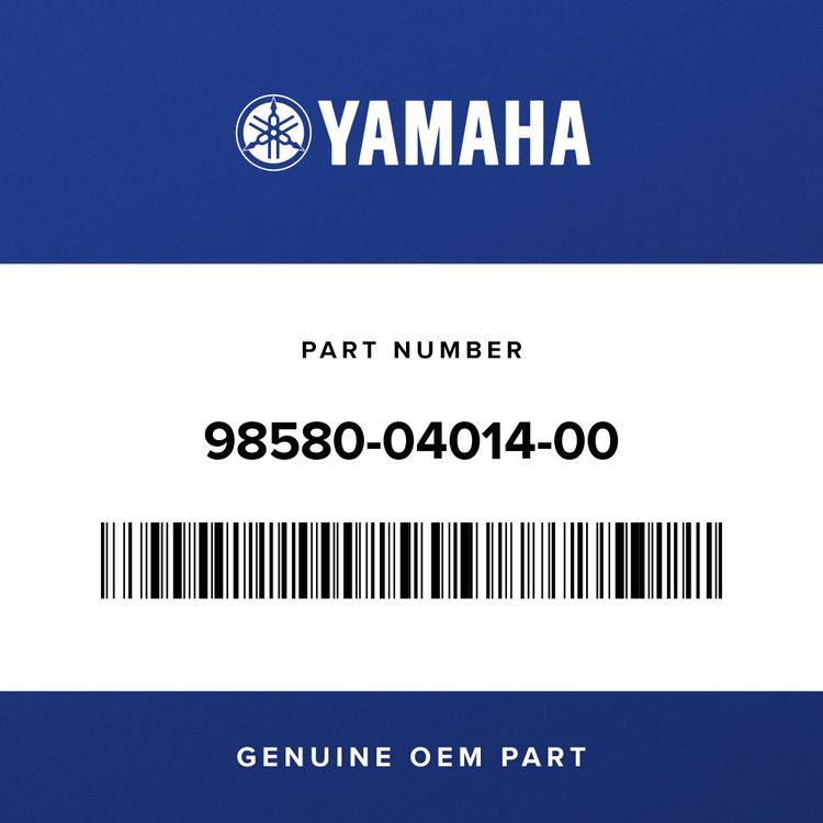 Yamaha SCREW, PAN HEAD 98580-04014-00