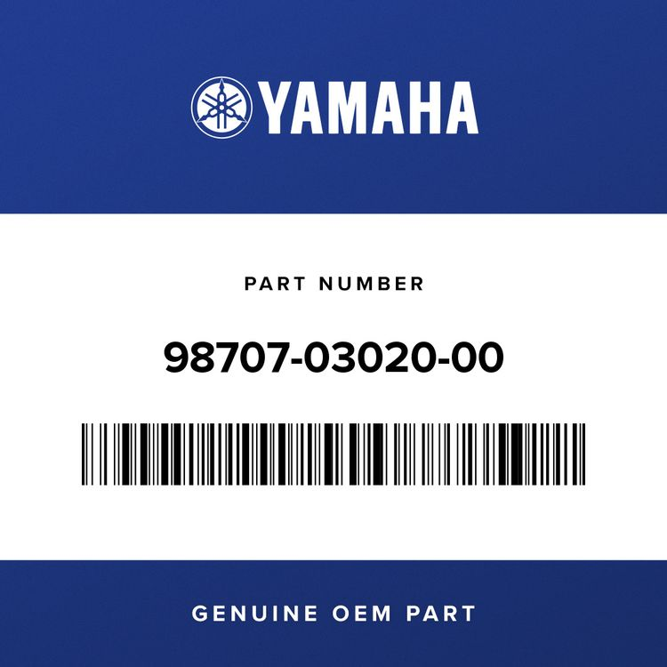 Yamaha SCREW, FLAT HEAD 98707-03020-00
