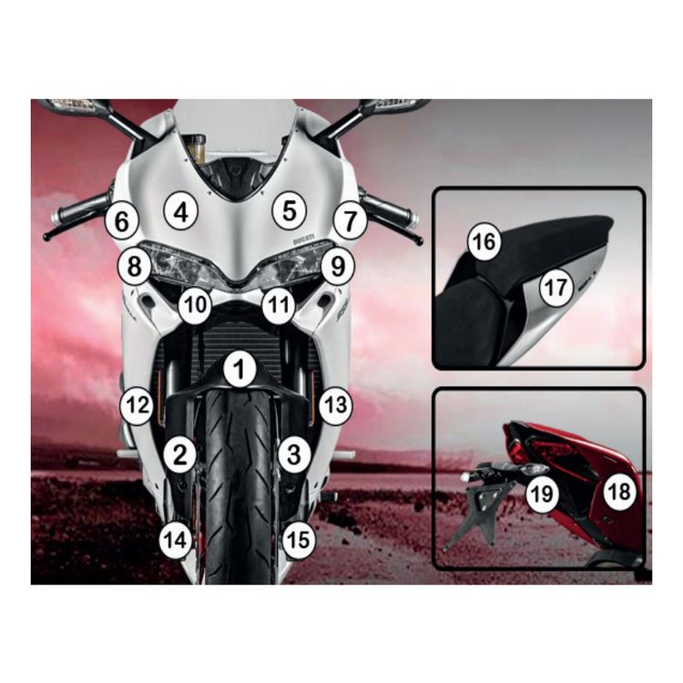R&G Racing Second Skin Polyurethane Protective Film Ducati 959 Panigale 2016-2019