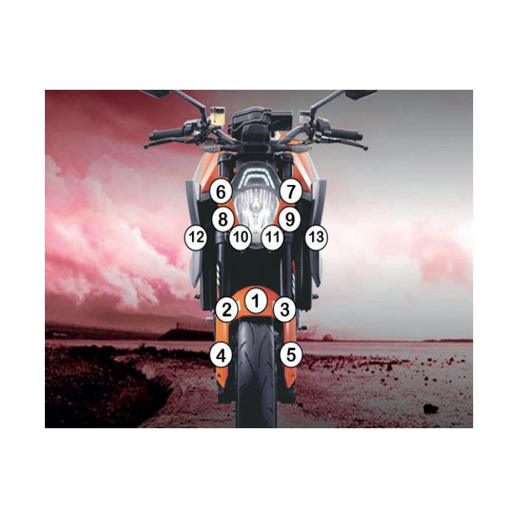 R&G Racing Second Skin Polyurethane Protective Film KTM 1290 Super Duke R 2014-2016