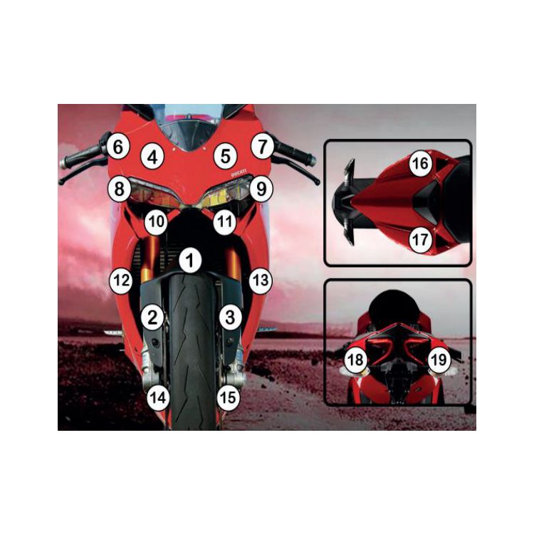 R&G Racing Second Skin Polyurethane Protective Film Ducati 899 Panigale 2014-2015