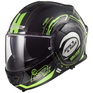 LS2 Valiant Black Light Glow In The Dark Helmet (MD)