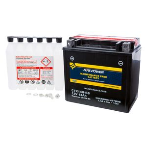 Fire Power Maintenance Free Battery CTX14H-BS