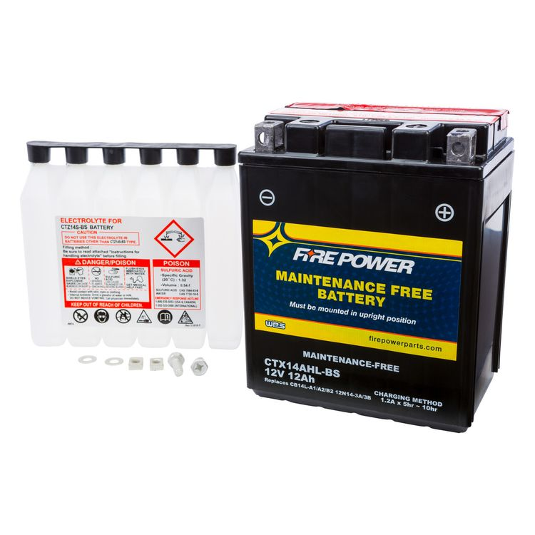 Fire Power Maintenance Free Battery CTX14AHL-BS