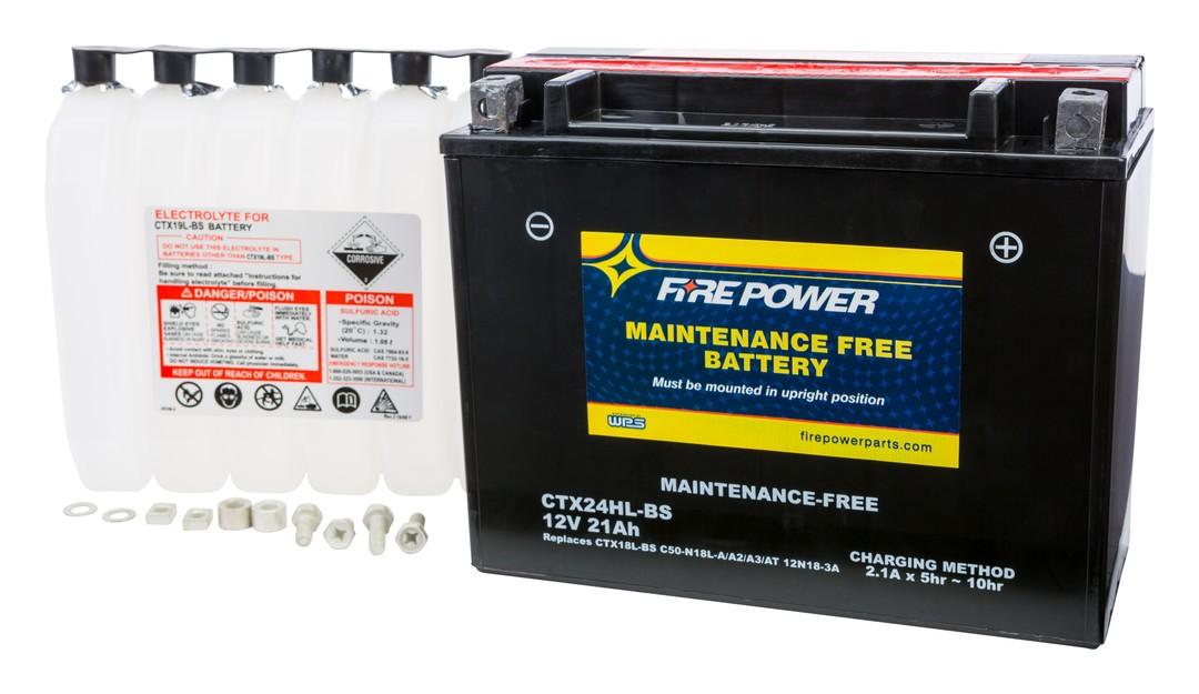 Fire Power Maintenance Free Battery CTX24HL-BS | 10% ($11 09) Off!
