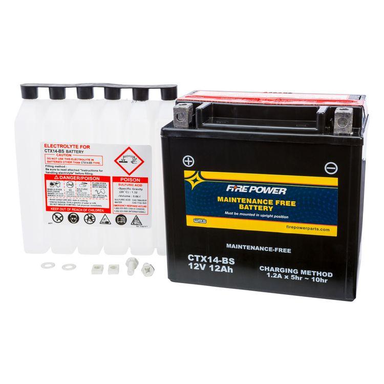 Fire Power Maintenance Free Battery CTX14-BS