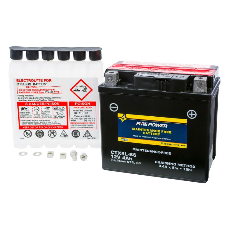 Fire Power Maintenance Free Battery CTX5L-BS