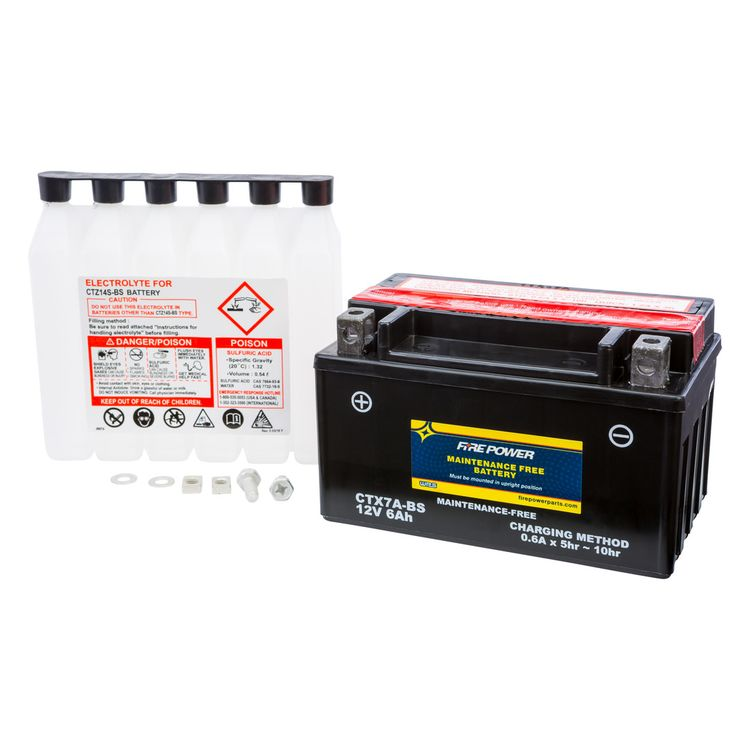 Fire Power Maintenance Free Battery CTX7A-BS