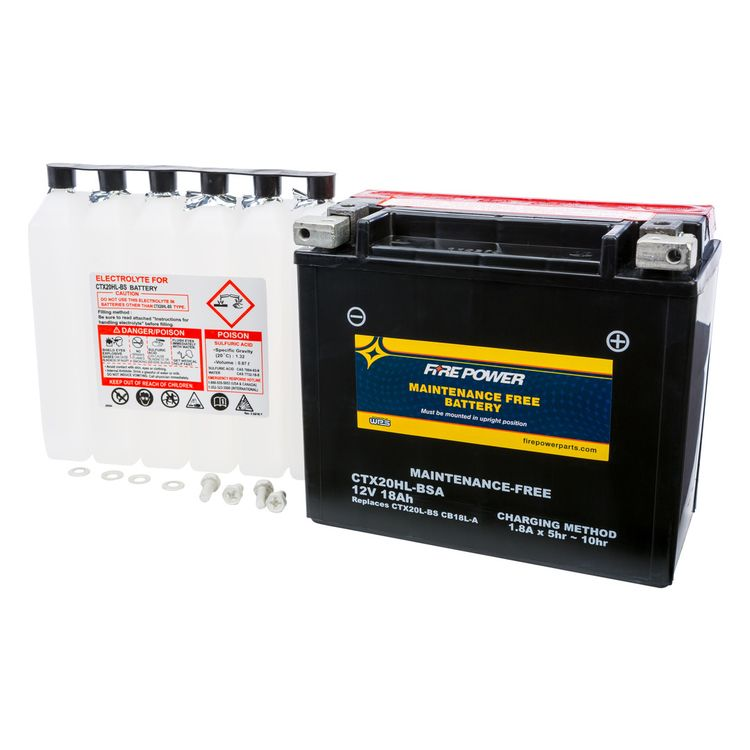 Fire Power Maintenance Free Battery CTX20HL-BSA