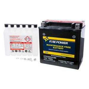 Fire Power Maintenance Free Battery CTX20CH-BS