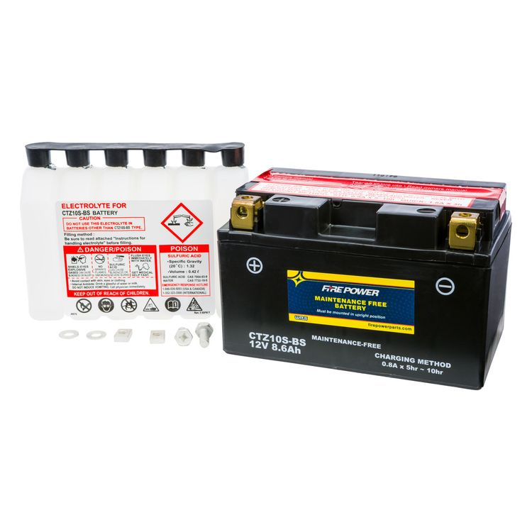 Fire Power Maintenance Free Battery CTZ10S-BS