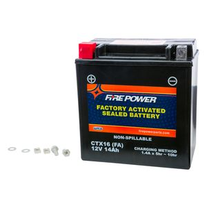 Fire Power Factory Activated Battery CTX16