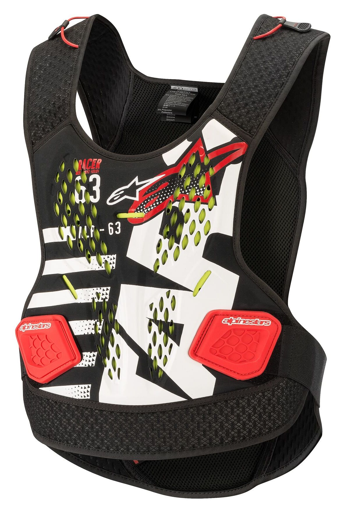 Alpinestars A1 Roost Guard Adult//White//Black//Red