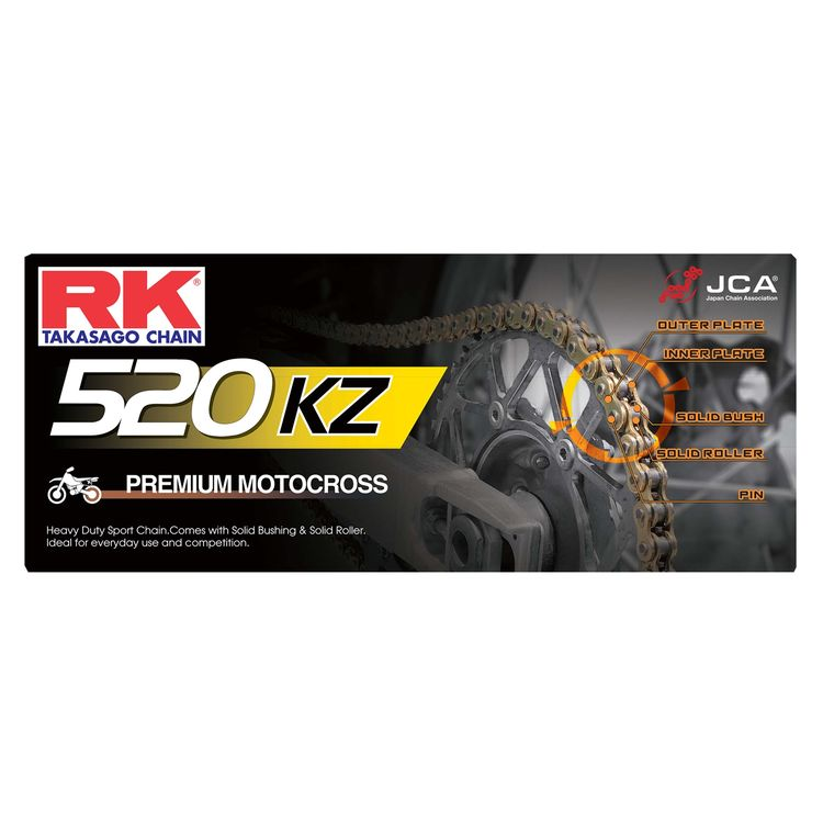 RK Chains 520 x 120 Links MXZ4 Series  Non Oring Gold Drive Chain