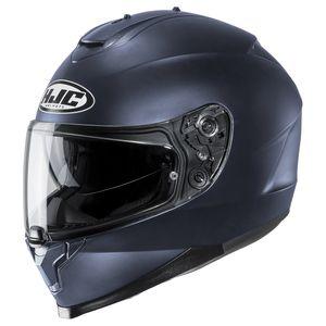 IS17 Matt Black Plain Motorcycle Helmet HJC SMALL