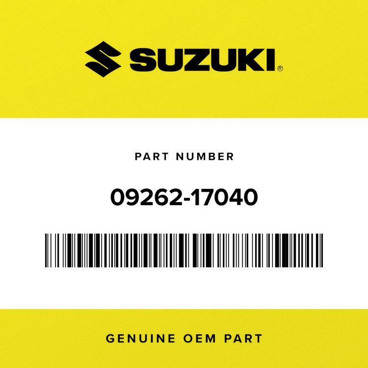 Suzuki BEARING (17X40X9.5) 09262-17040