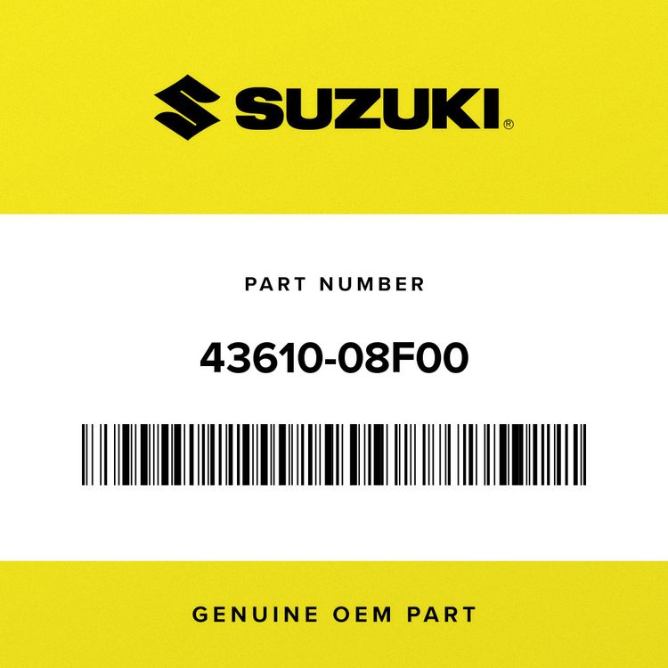 Suzuki BAR, PILLION FOOTREST RH 43610-08F00