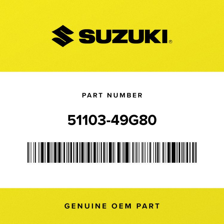 Suzuki DAMPER ASSY, FRONT FORK RH (SILVER) 51103-49G80