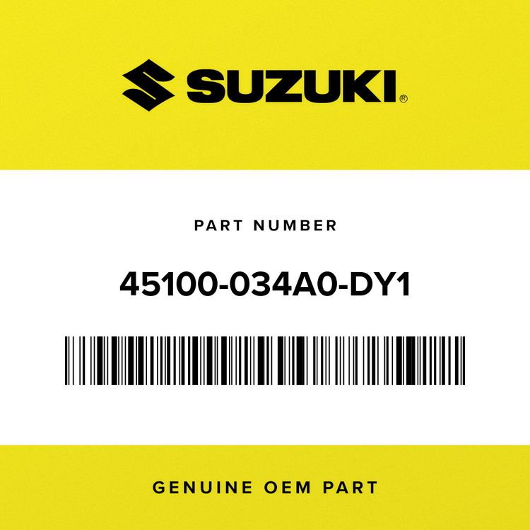 Suzuki SEAT ASSY (BLACK/SILVER) 45100-034A0-DY1