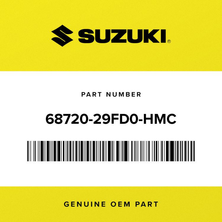 Suzuki TAPE SET, HEADLAMP HOUSING (SILVER/BLACK) 68720-29FD0-HMC