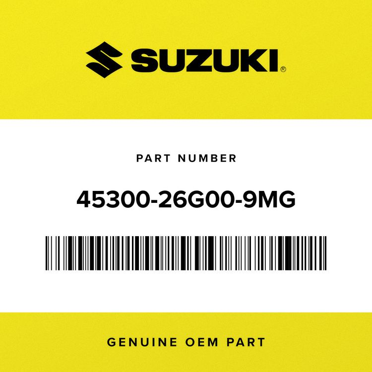Suzuki SEAT ASSY, PILLION 45300-26G00-9MG