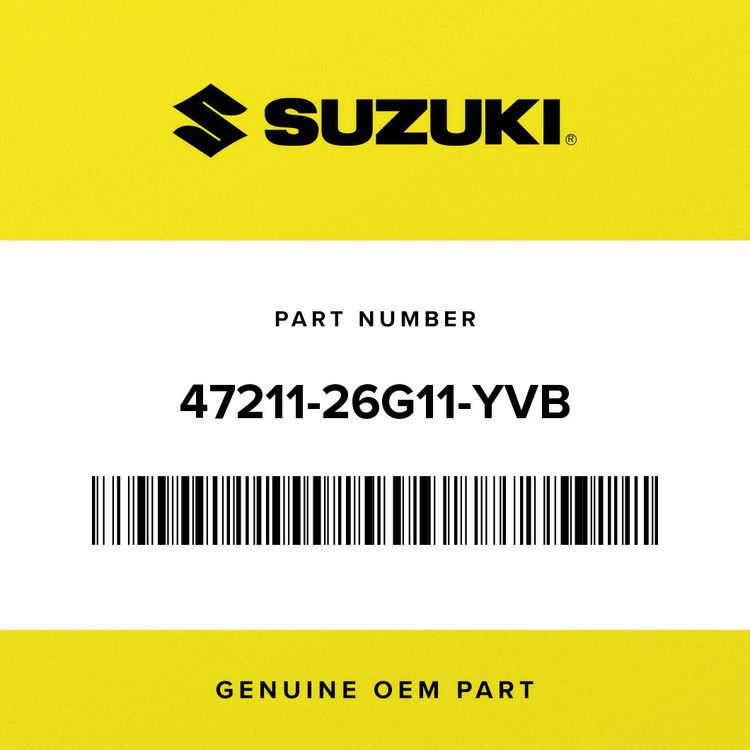 Suzuki COVER, FRAME LH (BLACK) 47211-26G11-YVB