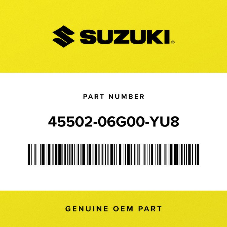 Suzuki COVER ASSY, SEAT TAIL, L (GRAY) 45502-06G00-YU8