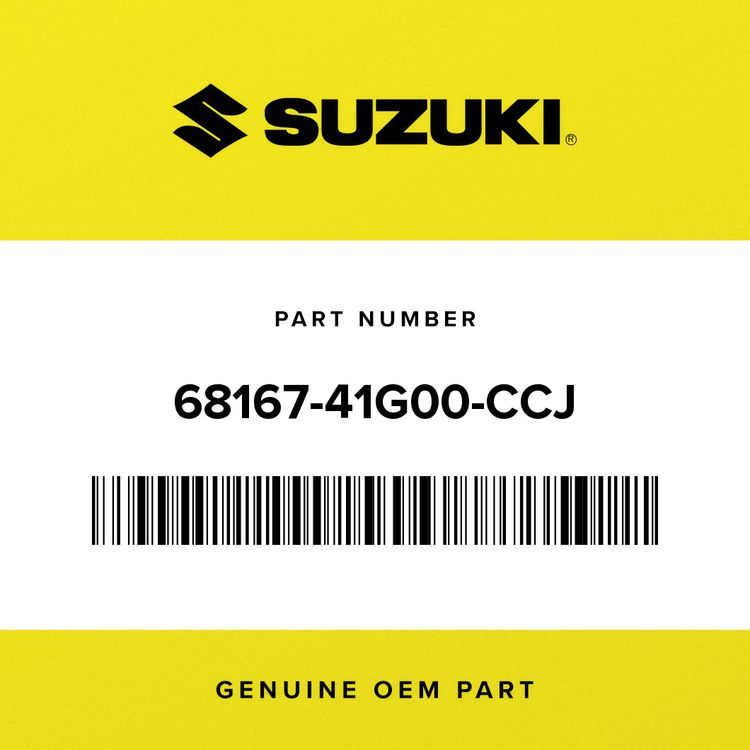 Suzuki TAPE, SEAT TAIL COVER, L 68167-41G00-CCJ