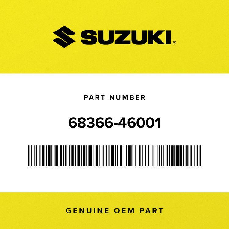 Suzuki LABEL, WARNING 68366-46001