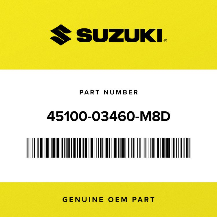 Suzuki SEAT ASSY (BLACK/YELLOW/BLACK/BLACK)  (BLACK/YELLOW/BLACK/BLACK) (BLACK/GRAY/BLACK/WHITE) 45100-03460-M8D