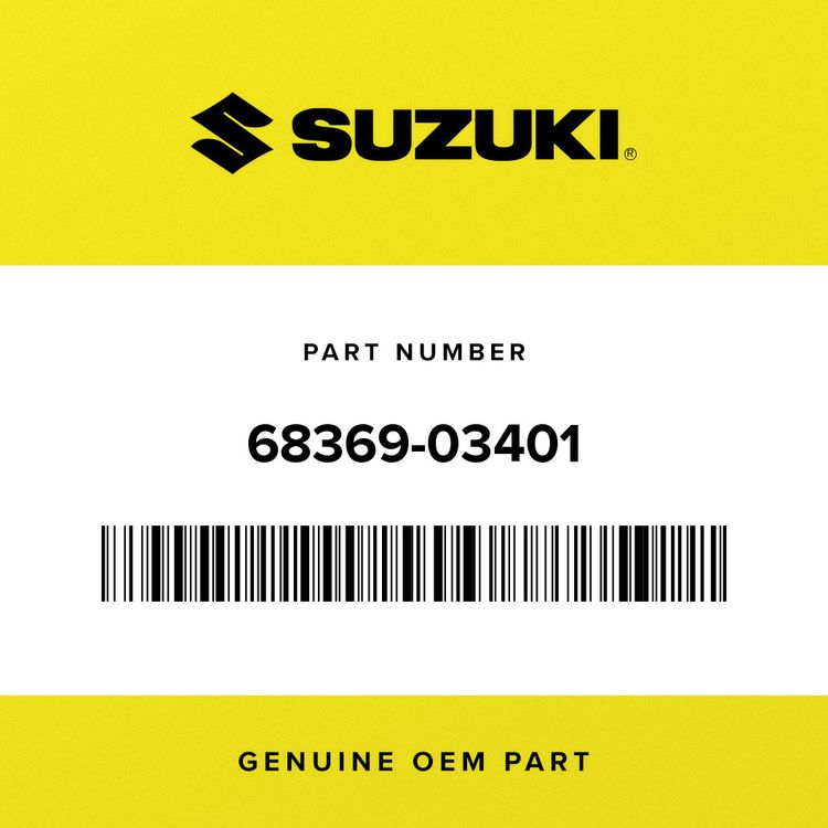 Suzuki LABEL, WARNING 68369-03401