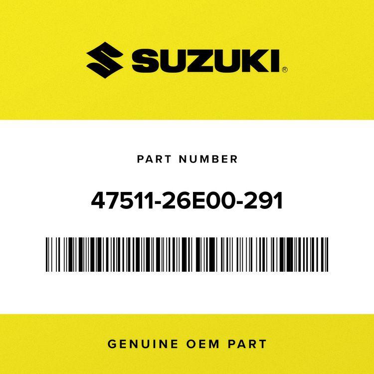 Suzuki COVER, FRAME HEAD RH (BLACK) 47511-26E00-291