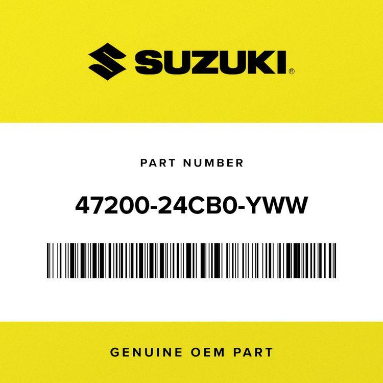 Suzuki COVER ASSY, FRAME LH (WHITE) 47200-24CB0-YWW