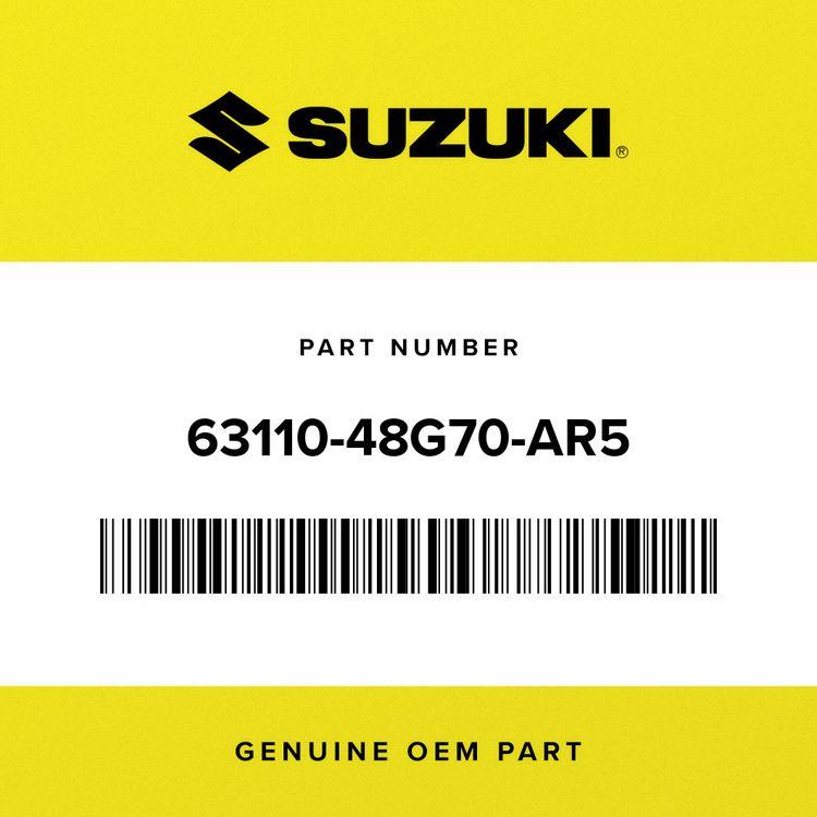 Suzuki FENDER, REAR (WHITE/BLACK) 63110-48G70-AR5