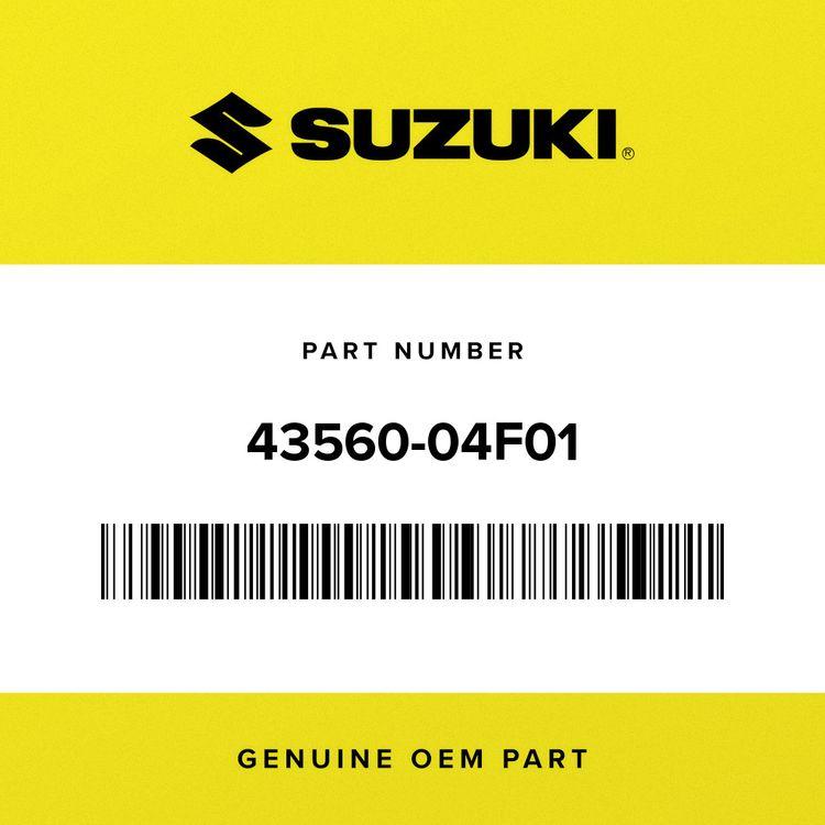 Suzuki RUBBER, FRONT FOOTREST LH 43560-04F01