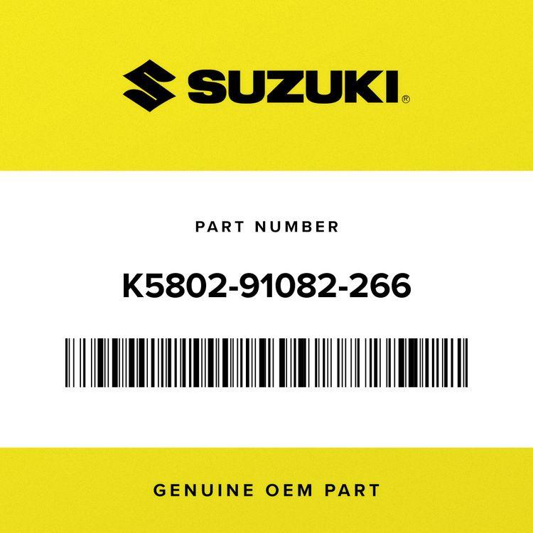 Suzuki PLATE-NUMBER, S.WHITE K5802-91082-266