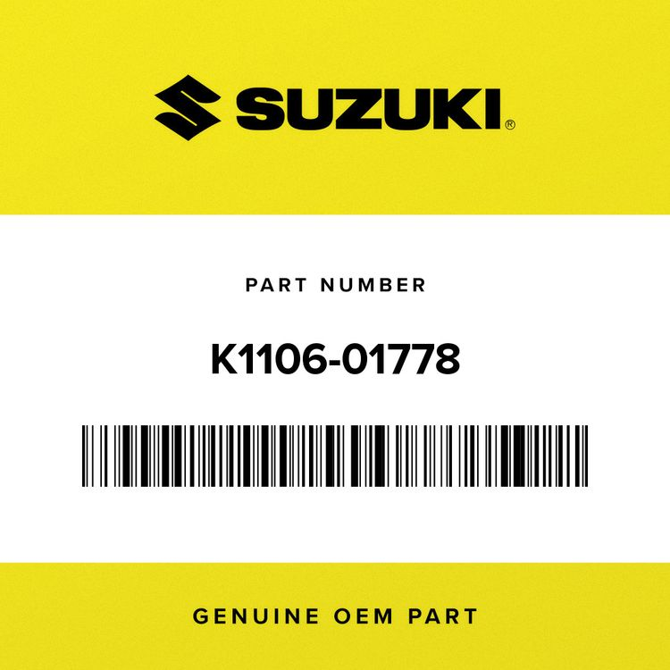 Suzuki GASKET, GOVERNOR COVER K1106-01778