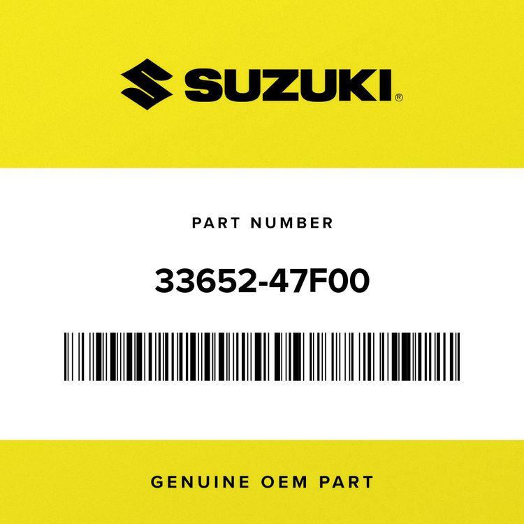 Suzuki CUSHION, LICENSE PLATE 33652-47F00