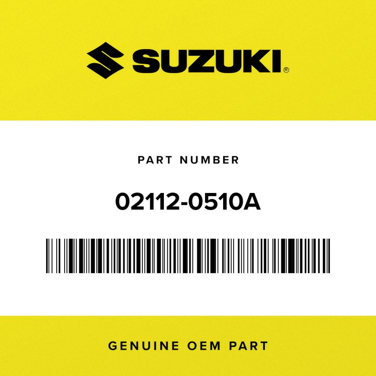 Suzuki SCREW 02112-0510A