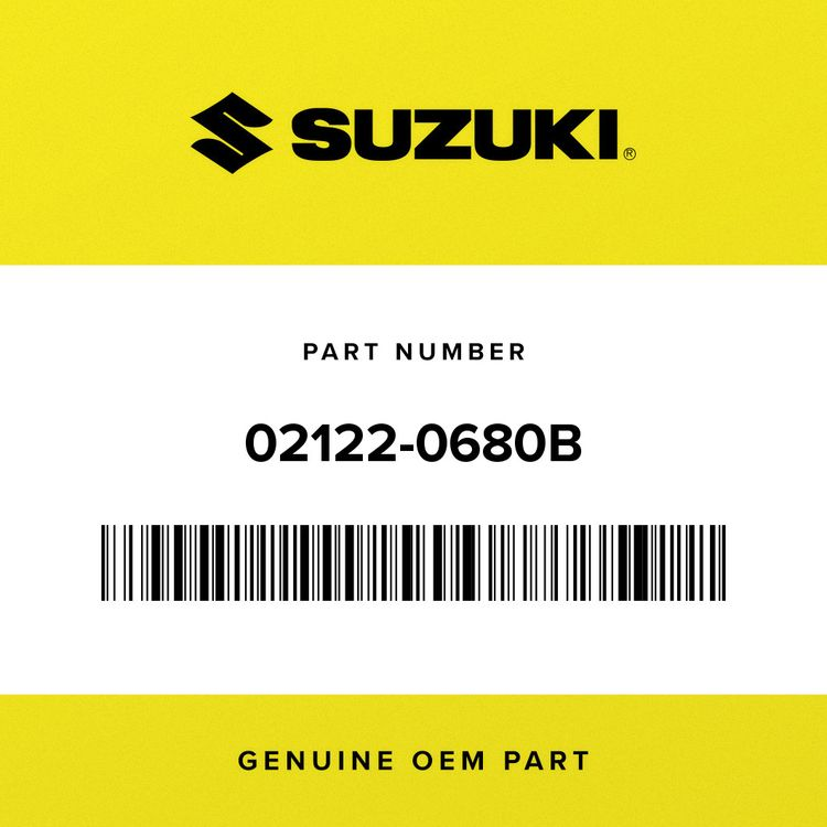 Suzuki SCREW 02122-0680B