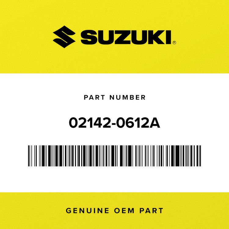 Suzuki SCREW, COVER 02142-0612A