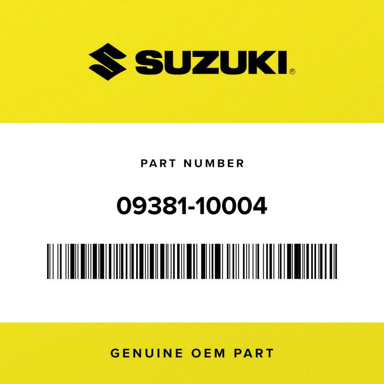 Suzuki SNAP RING 09381-10004